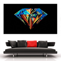 Large Size Printing Oil Painting Colorful Diamond Wall Painting Decor Wall Art Picture For Living Room
