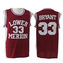 0af62ec8d452 Viva Villa Kobe Bryant Basketball Jersey  33 Lower Merion High School  Basketball Jerseys Mens Red