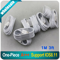 1M/3ft USB Charging Cable for Apple iPhone 6 plus 5 5C 5S iPod Touch 5 Nano7 iPad 8 Pin Charger Data Sync Line Fit For IOS 8.3