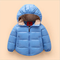 Free shipping Hooded Girls Boys Winter Coat Long Sleeve Boys Winter Jacket WindProof Children Kids Winter Jacket 2-6 Years