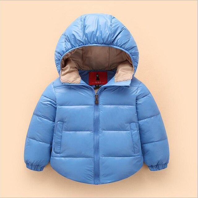 Free shipping Hooded Girls Boys Winter Coat Long Sleeve Boys Winter Jacket WindProof Children Kids Winter Jacket 2-6 Years
