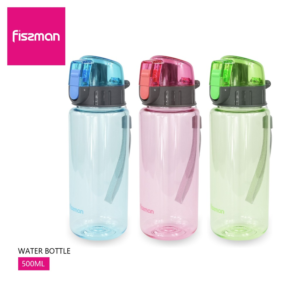 FISSMAN 500ml 17 5oz Sports Fruit Juice Lemon strainer Shaker Rope Outdoor travel Portable kids girls
