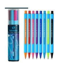 """8 צבעים/סט גרמניה שניידר סט ציור עט ניטראלי עט כדורי שמנוני XB XB 0.8 מ""""מ קצה ציפורן מתנת נייר מכתבים בית ספר תלמיד"""