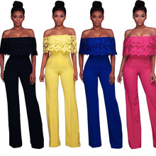 2018 NEW Women Romper Fashion Sexy Cocktail Summer Daily Casual Jumpsuit Strappy Off Shoulder Club Party Bodysuit  YL-NEW