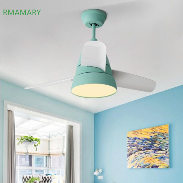 Nordique LED lumière ventilateur de plafond lampe moderne mode minimaliste salon chambre salle à manger télécommande LED ventilateur de plafond lumière
