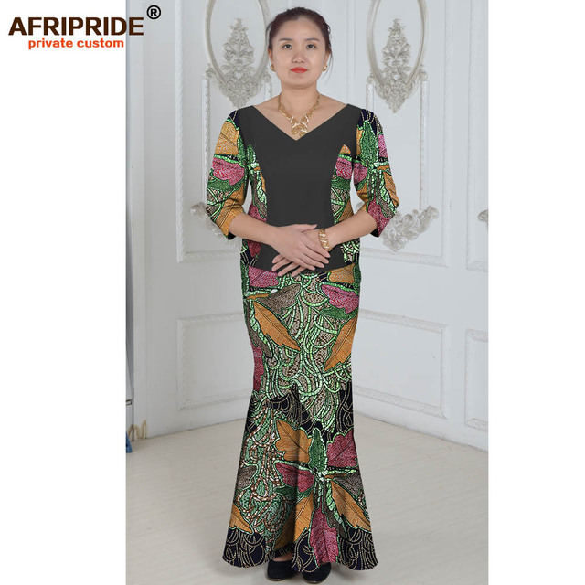 16593ea8b African clothes two-piece suit summer princess dress for women african  traditional styles print cotton wax plus size A632604