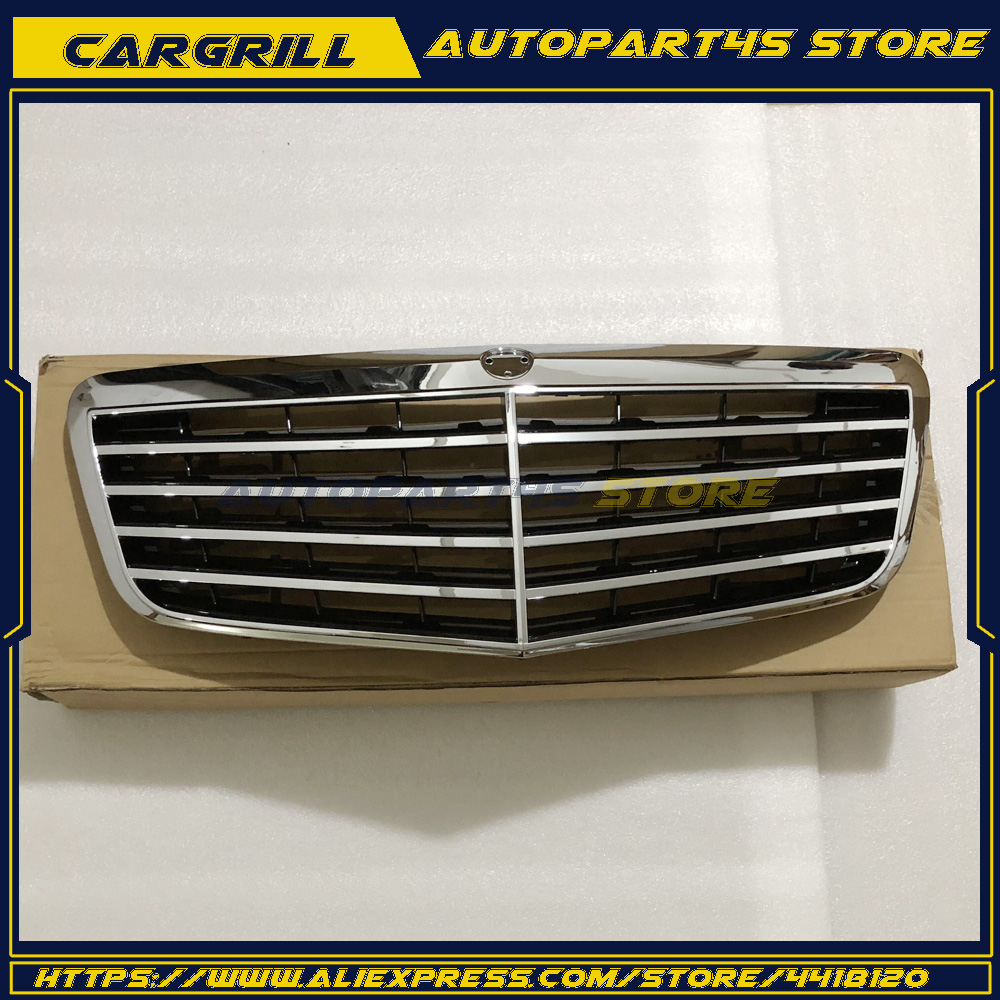 Front ALL Silver Grille E320 E550 E350 <font><b>E55</b></font> E63 <font><b>AMG</b></font> For Mercedes E/<font><b>W211</b></font> 2007-09 image