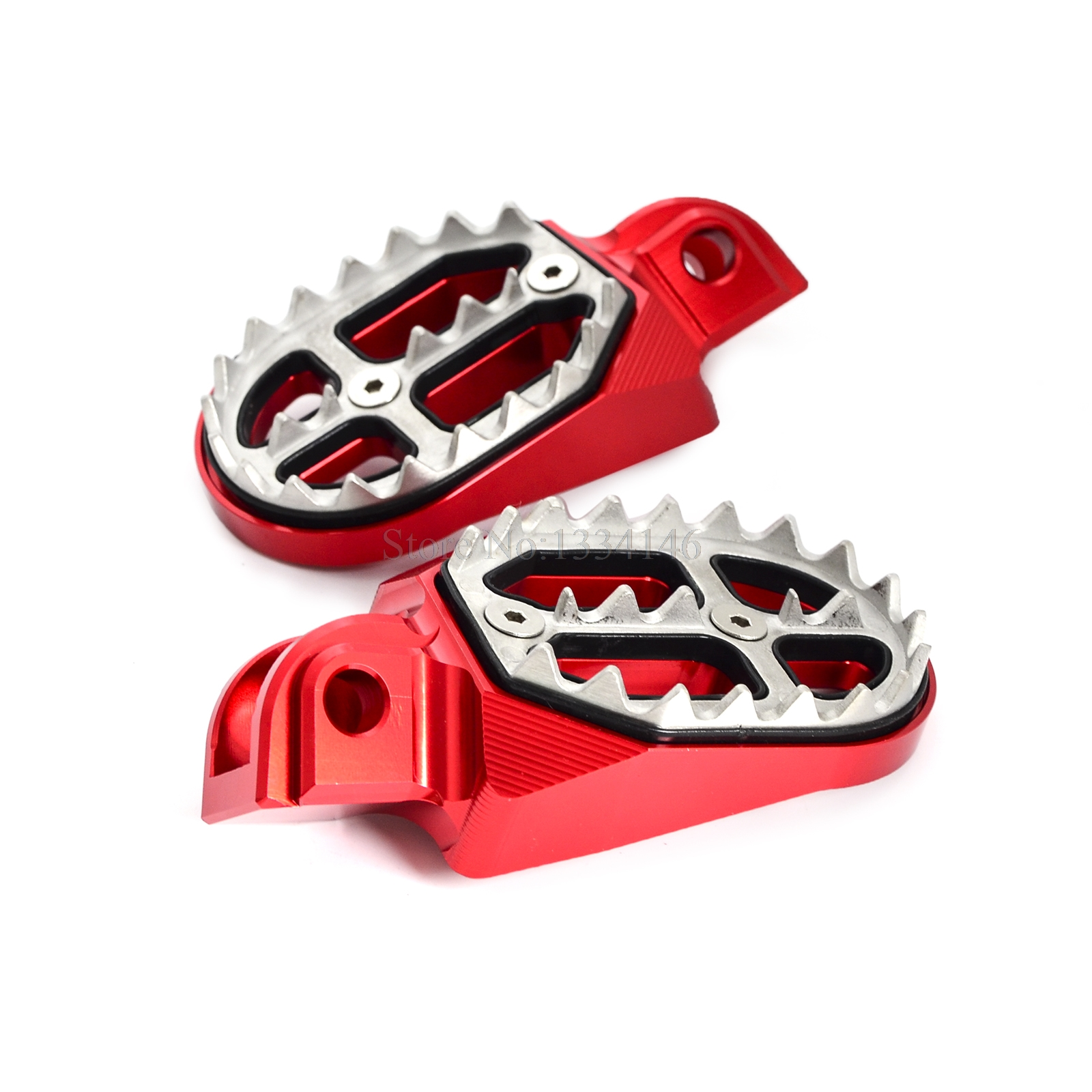 NICECNC Billet MX Foot Pegs Rests Pedals For <font><b>Beta</b></font> 125RR 250RR <font><b>300RR</b></font> 2T 350RR 390RR 400RR 450RR 480RR 498RR 520RR 4T 06-2017 2018 image