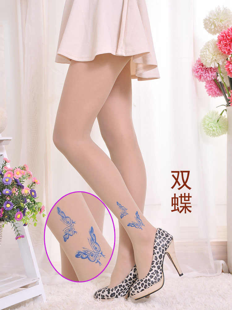 31c93ea73 ... 2018 Top Fashion Real Print Tights Collant Thin Stockings Pantyhose  Summer Velvet Tattoo Panty Printing Factory ...