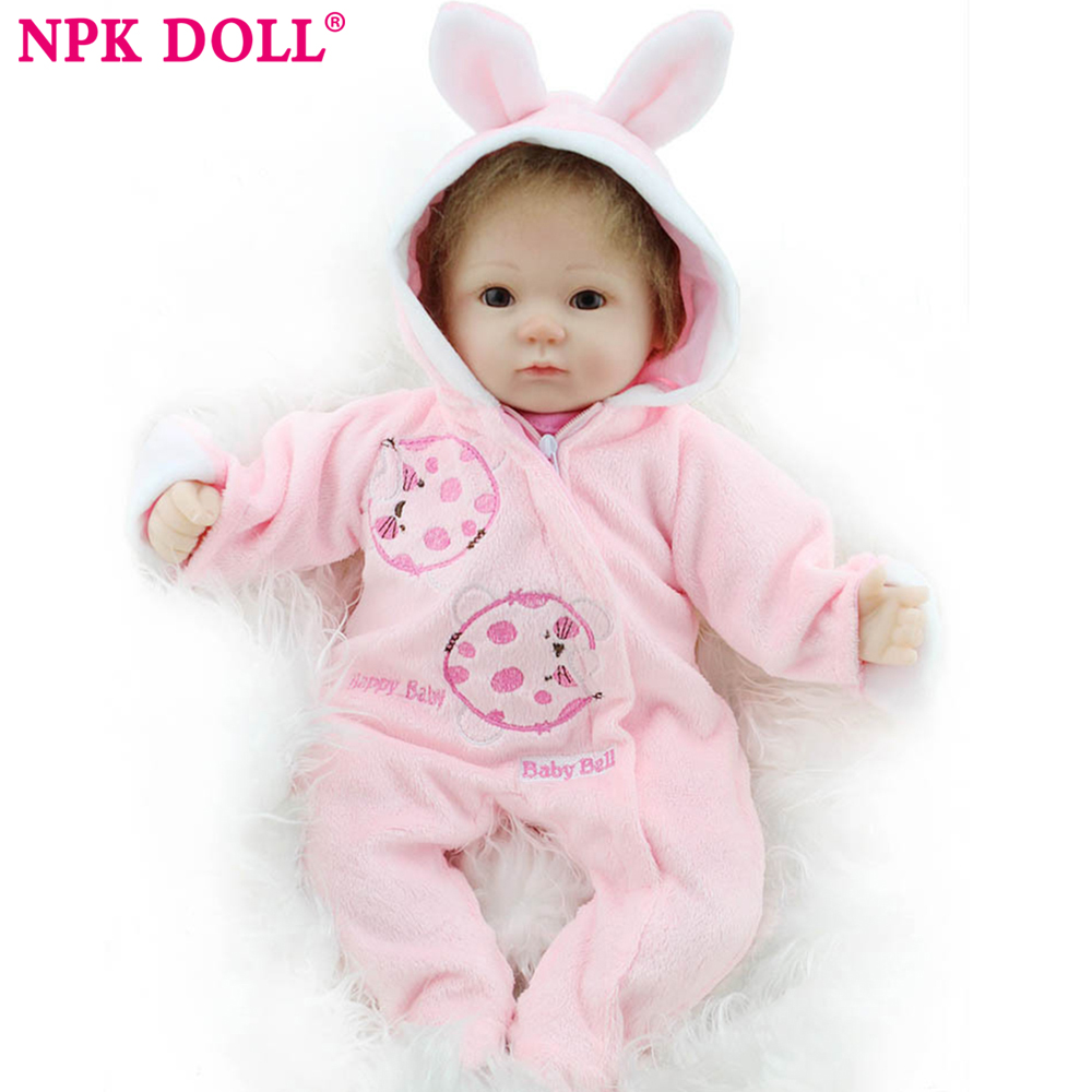 NPKDOLL bebe reborn dolls with soft silicone girl body newborn dolls cheaper price reborn real doll toys for girls bebe dolls встраиваемый светильник novotech ola 370201