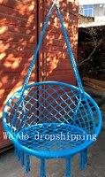 Good selling Round hammock outdoor indoor dormitory bedroom child swing bed kids adult Swinging hanging single chair