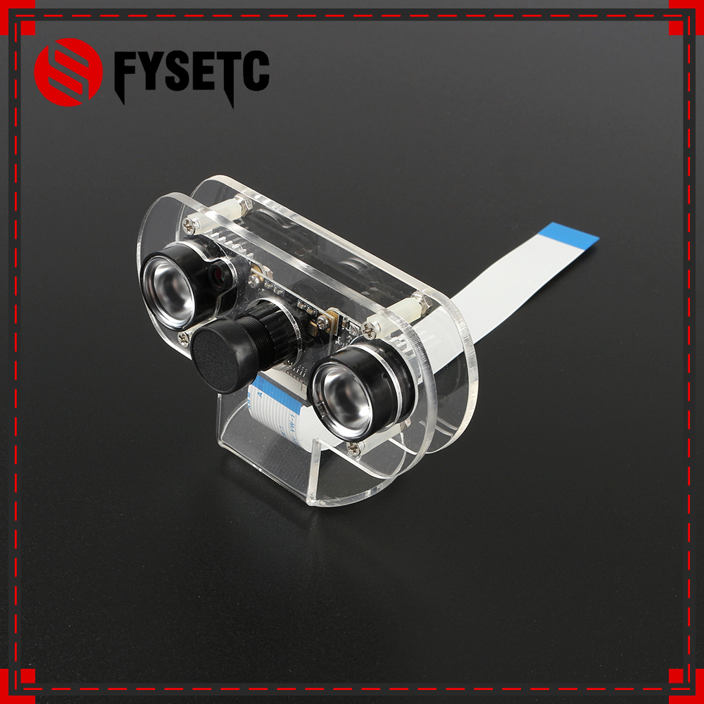 Raspberry Pi 3 Night Vision Camera 60/130 Degree Focal Adjustable Camera+Acrylic Holder Bracket HeatSink For Pi 3 Model B B Plus