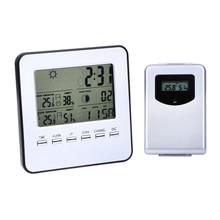 Digital Wireless Temperature Humidity Meter Sensor Hygrometer Clock Indoor/Outdoor Weather Station Digital Thermometer
