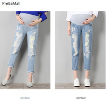Maternity Jeans Maternity Clothes For Pregnant Women Trousers Nursing Prop Belly Leggings Jeans Pregnancy Clothing Pants E0038 недорого