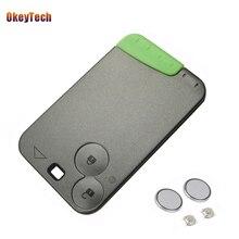 OkeyTech Sostituzione 2 Button Remote Key Card Caso di Shell Fob Smart Card Caso chiave Per Renault Laguna & 2 Batteria e 2 Micro Interruttore