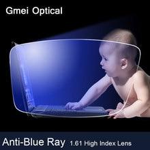 Lentille optique Anti rayon bleu 1.61 indice élevé, Prescription pour la myopie presbytie, lentilles optiques pour la Protection des yeux, lunettes de lecture