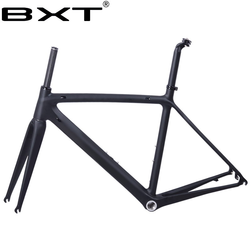 2018 new BXT T800 carbon road bike frame cycling bicycle frameset super light 980g Di2/mechanical racing carbon road frame 2018 t800 full carbon road frame ud bb86 road frameset glossy di2 mechanical carbon frame fork seatpost xs s m l og evkin