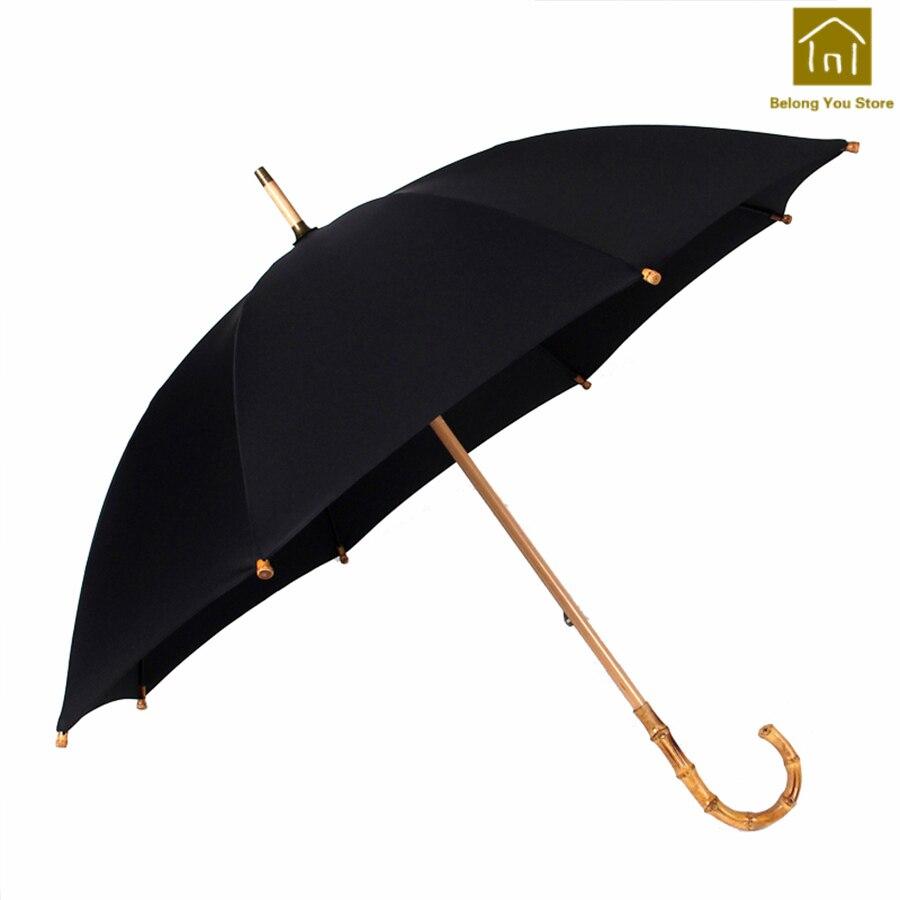 Grande poignée Creative ensoleillé parapluie pluie coupe-vent ombre parapluie poche Parasol Jardin fait main Parasol pluie parapluies BKV053