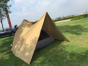 Image 4 - 3F UL معدات قماش القنب كوريا الوطنية الغابات 4x4.4m مكافحة الأشعة فوق البنفسجية 210T مع طلاء الفضة في الهواء الطلق مأوى كبير الشاطئ المظلة السياحية المظلة