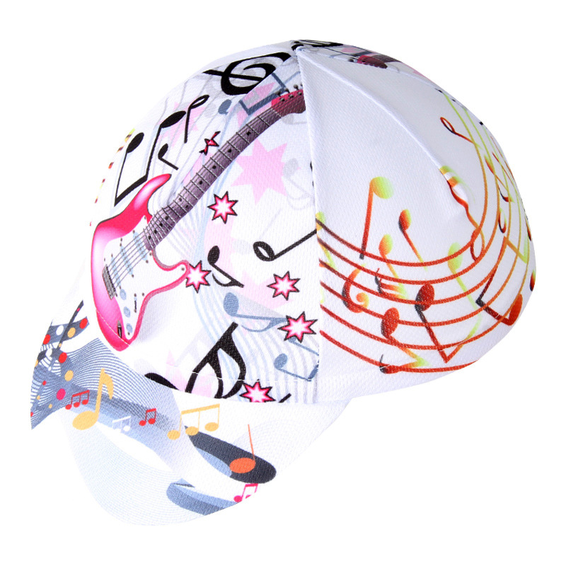Cycling Cap Summer Men White Guitar Music Patter Anti-sweat Outdoor Sports Bicycle Riding Hat Head Scarf Bike Headband Ciclismo