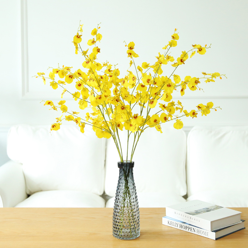 5 unids / lote amarillo Little Dancing-lady Orchids (5 ramas / tallo) - Para fiestas y celebraciones - foto 2