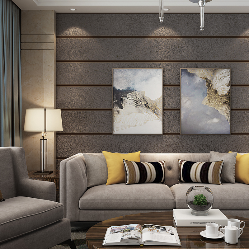 Modern Simple 3D Embossed Flocking Non-Woven Wallpaper Living Room TV Sofa Backdrop Wall Home Decor Wallpaper Roll For Walls 3 D simple striped lines modern wall papers home decor wallpaper for living room bedroom tv sofa background wallpaper for walls 3 d