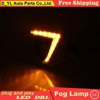 D_YL car styling For Mazda CX 5 2013 15 LED DRL For Mazda CX 5 led fog lamps daytime running light High brightness guide LED DRL
