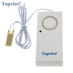 Topvico detector de alarme de vazamento de água 120db alarme de água sensor de vazamento de detecção de alerta de inundação overflow sistema de alarme de segurança em casa