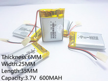 Supply lithium battery lithium polymer battery 602535 602535 +600 mah +3.7 V CL
