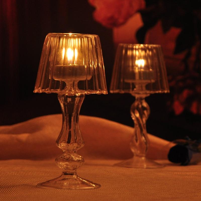 1 Pcs Heißer Glas Kerzenhalter Kristall Stil Glas Licht Kerzenhalter Kerze Dekoration Qualität Tropfen Verschiffen