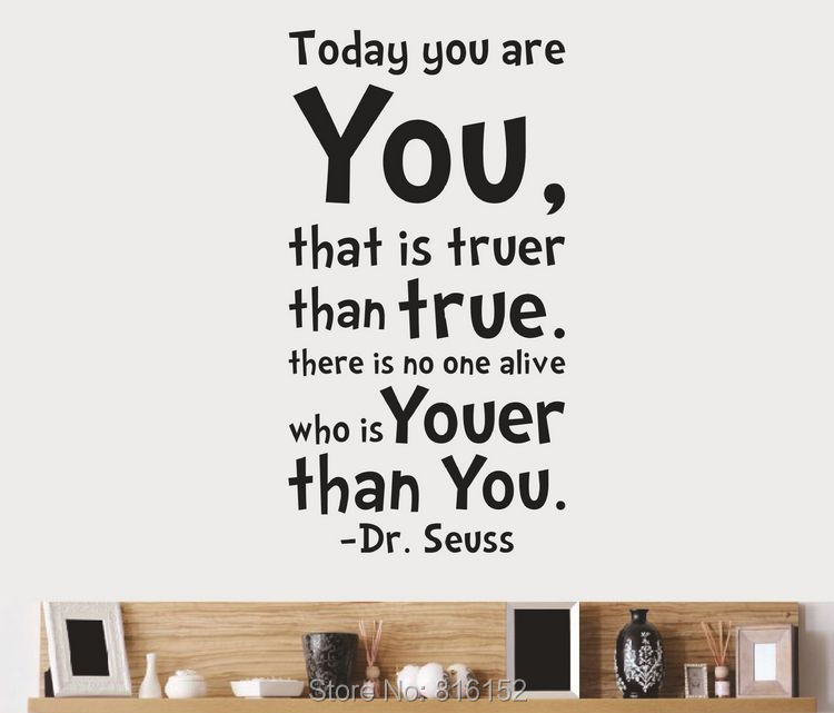 Today You Are You Art Vinyl Wall Decals Stickers Quotes And Sayings