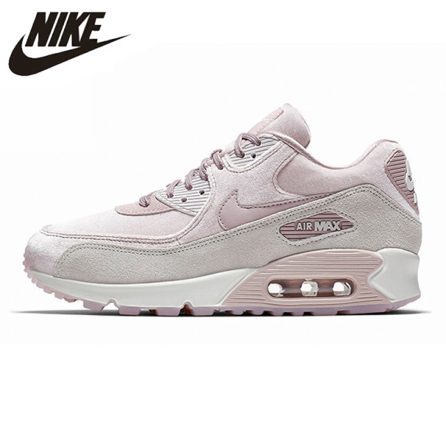 b31101ec87 NIKE AIR MAX 90 LX Women's Running Shoes, Pink, Shock Resistant Non-slip