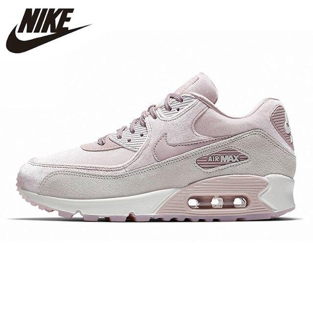 NIKE AIR MAX 90 LX zapatos para correr para mujer, rosa, resistente a los golpes antideslizante de la abrasión ligera y transpirable de 898512 a 600