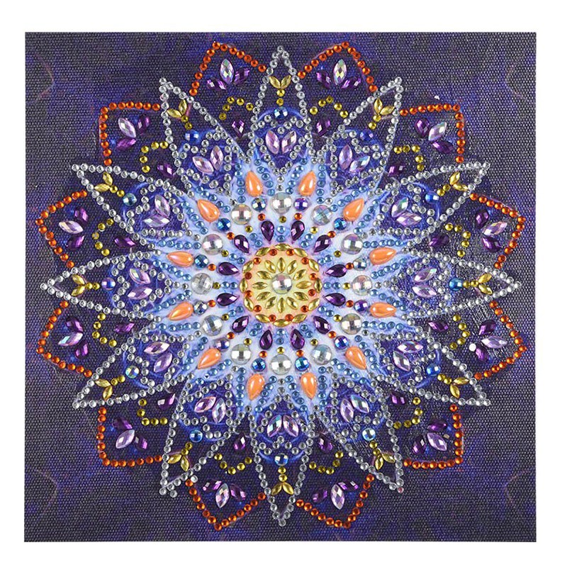 5D Diy Special Shaped Diamond Painting Cross Stitch Flower Mandala Home Decoration Shiny Rhinestones Inlay Diamond Embroidery(China)