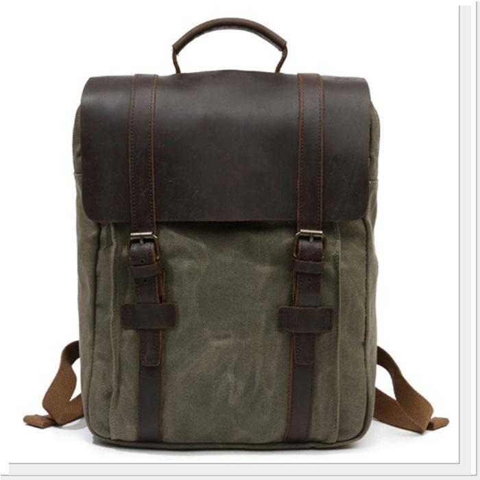 Vintage Canvas Men Laptop black/gray Backpack Bag Large Capacity Travel Backpack Men Casual School Backpack For Teenager Boys men women laptop backpack vintage canvas school bags for teenager boys girls casual school backpack mochilas for college student page 3