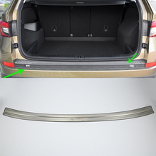 OUBOLUN stainless steel exterior car accessories rear bumper foot plate high quality For 2017 SKODA KODIAQ