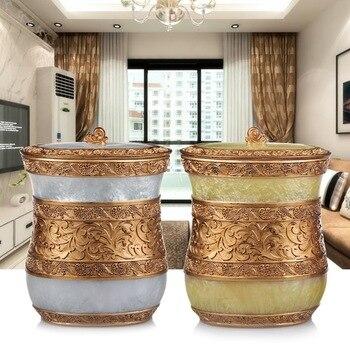 Garbage cans European style home storage bucket storage room living room kitchen bathroom trash size