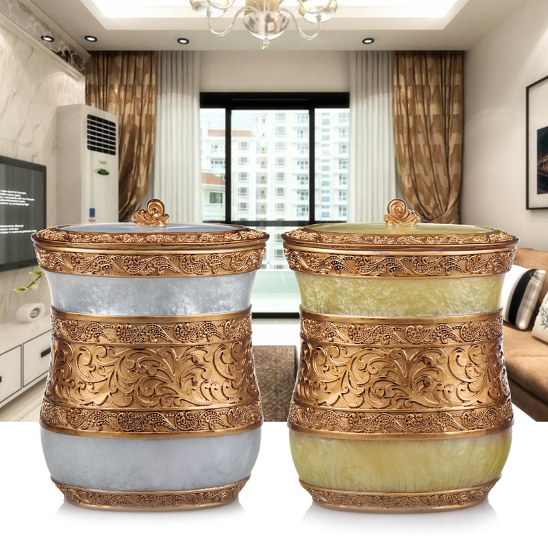 Garbage cans European style home storage bucket storage room living room kitchen bathroom trash size