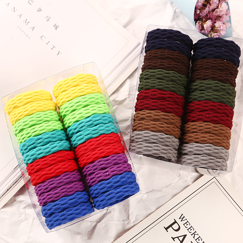 High Quality 24PCS/LOT New Fashion Women Rubber Band Girl Elastic Rope Hair Bands Ponytail Holders   Headwear   Hair Accessories Gum