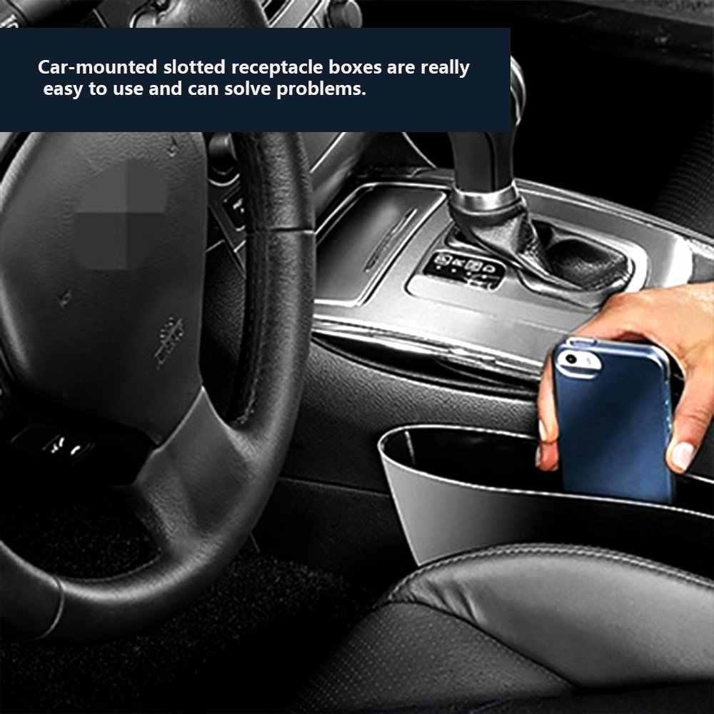 1 قطعة صندوق تخزين السيارة السوداء الفجوة حشو البلاستيك وحدة التحكم منظم جيوب اكسسوارات الداخلية مقعد السيارة الجانب قطرة كادي الماسك