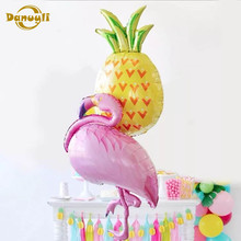 Balões de aniversário flamingo/folha de abacaxi balão decoração de aniversário crianças adulto festa de praia hélio globos de ar