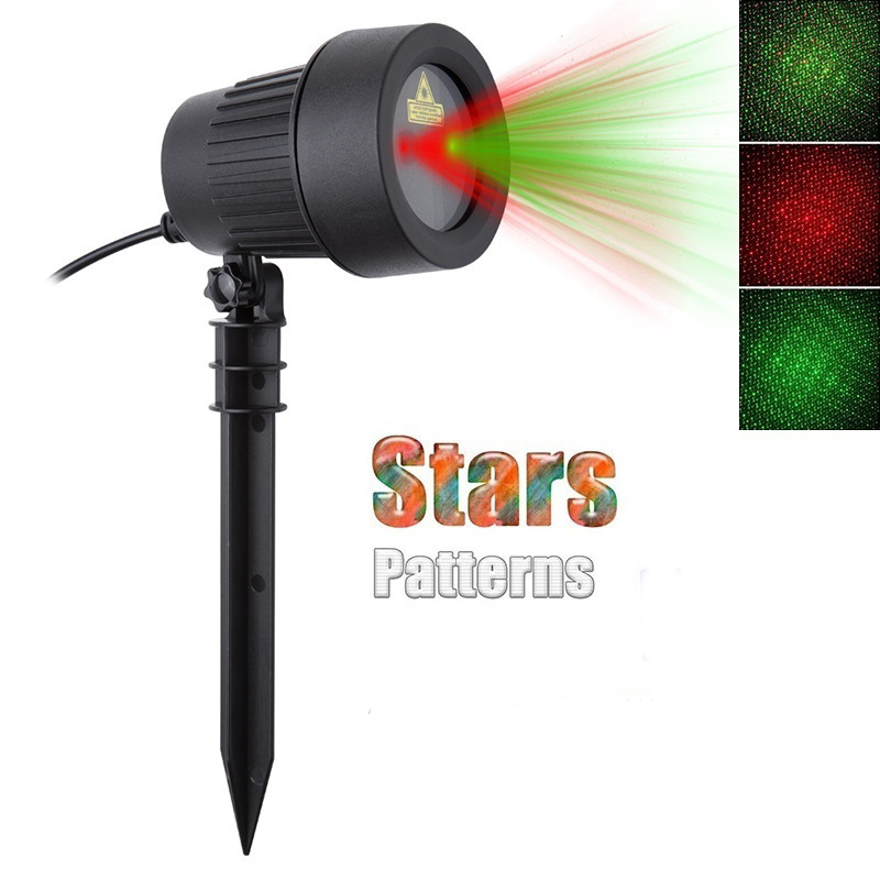 Christmas Laser Projector Stars Lights Red Green Static Twinkle Waterproof IP65 Outdoor Garden Lawn showers Tree Decoration 3d christmas tree and stars print flocking hoodie