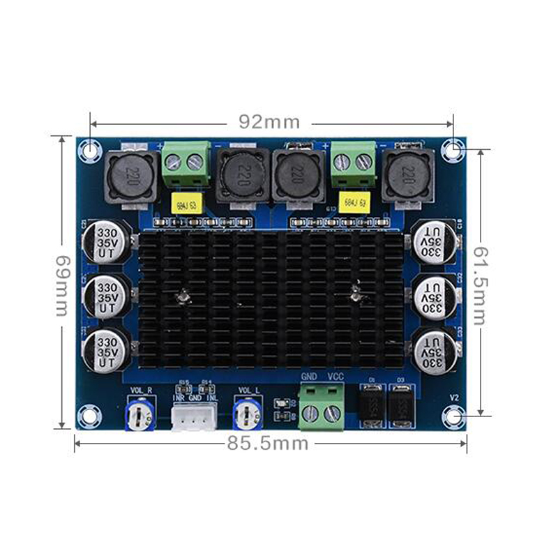 Image 3 - TDA7498 2.0 Digital Power Amplifier Board 100W*2 Dual channel Stereo Audio class d amplifier for speaker DC12 32V-in Amplifier from Consumer Electronics