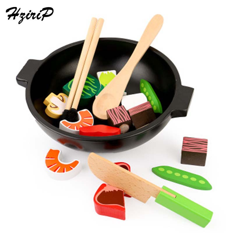 HziriP 2017 Wooden Kids Toys Vegetables Pretend Play Kitchen Toys Safety Food Sets Educational Classic Toy For Children Gifts