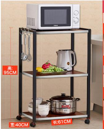 Multi-function kitchen rack. Microwave oven rack. Multi-layer stainless steel oven shelf..