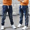 Outono de 2016 novos meninos de roupas infantis de jeans crianças calças de algodão soltas grande virgem Coreano calças pés