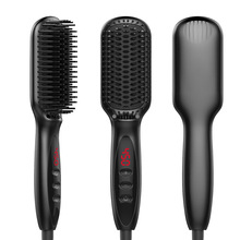 Cheap price Personal Use Digital Hair Straightener Elect Comb And Electric Hair Styling Brush Ionic Hair Straightener Brush WT-29 US/EU Plug