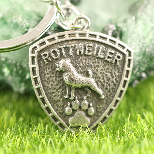 Rottweiler KeyChain Pet Rescue Jewelry Animal Shape Zinc Metal Tiny Chain Key  chains For Party Gifts 30 25mm 809b7bcb5