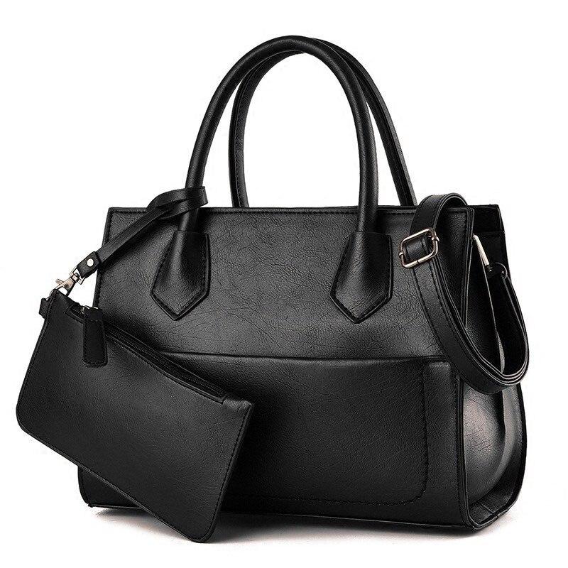 Vintage Lady font b Handbag b font Chic Composite Bag Occident Style Luxury Designer PU Leather