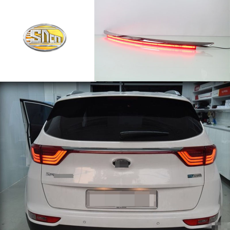 Rear Bumper Tail Light For Kia KX5 / Sportage IV (QL) 2016 2017 Red LED Reflector Brake Lamp Warning Signal Driving Fog LampRear Bumper Tail Light For Kia KX5 / Sportage IV (QL) 2016 2017 Red LED Reflector Brake Lamp Warning Signal Driving Fog Lamp
